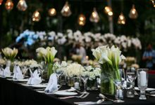 Dinner Reception by Corilux Art Decoration Florist