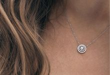 The Brilliance Collection Orbit Necklace and Earrings by Lovemark Diamond