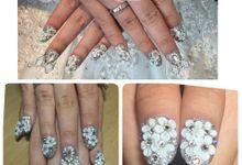 Wedding nail by glowing_nailart