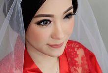 Red Satin Robe by dydx Bride