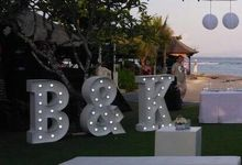 Initial letters by Light Up Letter Bali