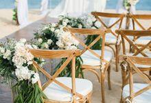 Beach wedding at Mulia Resort by Flora Botanica Designs