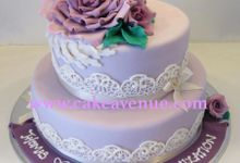 Contemporary Customised Wedding Cakes by Cake Avenue