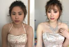 Bridal Before And After Makeup Look by Izzy Makeup Artistry
