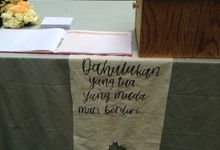 Handlettered Fabric by La Vie Calligraphy