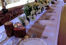 Setting Table arrangement Rustic by H2 Design.co