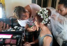 wedding sarah - daniel by paul make up artist