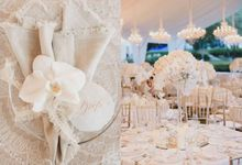 Mariady & Clarissa White Couture Wedding by Flying Bride