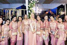 Clutch for bridesmaids Syahnaz-Jeje Wedding by Waiwai Clutch