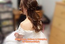 Our Lovely real Brides - Makeover & Gowns by Makeupwifstyle