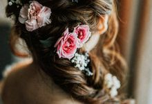Romantic Braids by Makeup Maestro Weddings