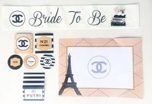 Chanel themed Bridal Shower Sash and Printables by dydx Bride