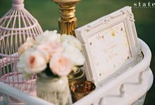 Gunawan & Melisa - Timeless Blush & Gold Wedding by POSH DECORATION