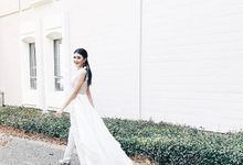 Statement cape and jumpsuit by Blooms