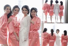 Coral Satin Robe by dydx Bride