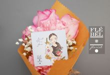Hand Painted Illustration Flowercard by FleBel Florist