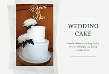 WHITE WEDDING CAKE by Mommywhalebakers