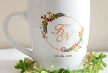 MUG CORNING WEDDING KAZUYA & NADIA by Mug-App Wedding Souvenir