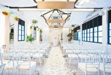 Pure White Glam Solemnisation - Indoor at Botanico The Garage by Botanico @ The Garage
