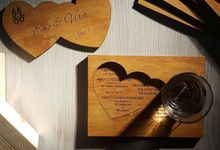 Wooden Coaster Invitation by Red Fennec