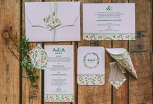 MODERN FLORAL WEDDING STATIONERY by Atelier Invitations
