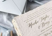 Calligraphy invitation suite - caca & barry by Pensée invitation & stationery