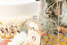 Andreas & Sheilla Wedding Cake and Dessert Bar by CDC Corp
