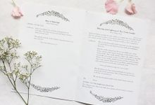 Floral Simplicity  |  Steven & Adela Lesa by dora prints and paper goods