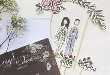 Rustic Daisies  |  Nigel & Dora by dora prints and paper goods