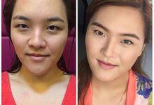 No makeup look for DJ Alice of wishfm1075 by THALIA MANILA