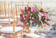 Vintage Crimson & Marsala by Flora Botanica Designs
