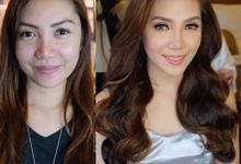 before and after by Aica Latay Makeup Artistry