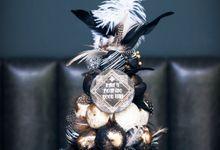Wedding CROQUEMBOUCHE -Cream Puff Tower by Pulse Patisserie