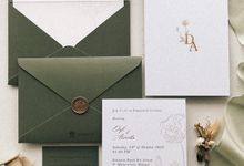 Arvicha & Davi engagement by Peony and Brides Invitation