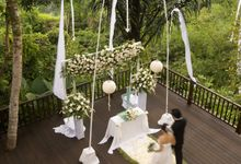 kayumanis ubud-wedding ceremony-dining corner by Kayumanis Private Villa and Spa