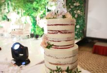 Wedding Cake - Arnold & Dea by Lareia Cake & Co.