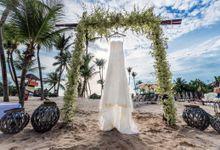Beach Wedding at OLA Beach Club Sentosa by GrizzyPix Photography