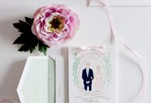 Christine & Christian CustomWedding Invitation by Belle Pivoine
