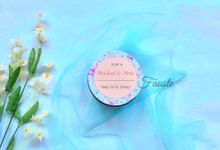 Candy Tins Favors by Fauste Souvenir