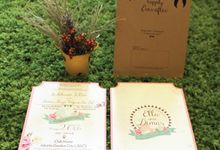 Ella & Dimas Wedding Invitation by Premium Card