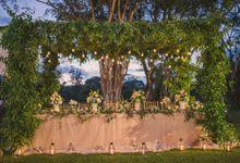 Bali Garden Wedding Party Decoration by Bali Izatta Wedding Planner & Wedding Florist Decorator