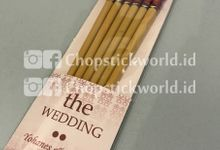 Three PAIRS set Customized Wedding Chopstick by Chopstickworld.id