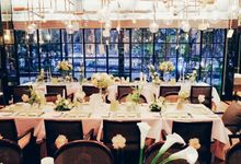 Floral White & Green Dinner Party by Handkerchief