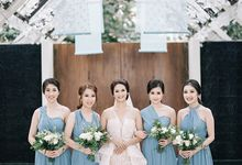 Villa Phalosa - Serene Dusty Blue Wedding by Flora Botanica Designs