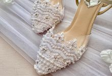 Some of Our White Wedding Bridal Designs by Aveda Footwear