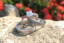Engagement and Wedding Rings Set by Sep Vergara Fine Jewelry