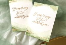 Place Cards & Custom Card for Gracia by Calligraphy By Mercia