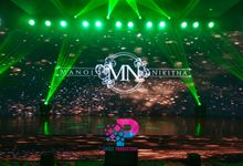 LED Backdrop For Weddings Sangeet and other events by LED Backdrop Chennai (Pixel Productions)