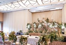 Beautiful Indoor Decoration by Financial Hall by IKK Wedding