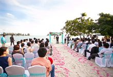 Romantic Beach Wedding of Howard & Seok Poh by The Danna Langkawi